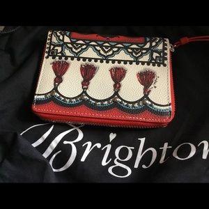 BRIGHTON AQUA & RED GORGEOUS WALLET